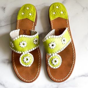 Jack Rogers Flat Sandal Lime Green Leather Shoes